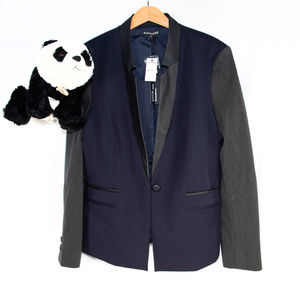 New Express blue, grey 'Editor' blazer jacket